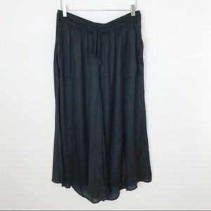 Anthropologie Elevensis Black Drawstring Wide Leg